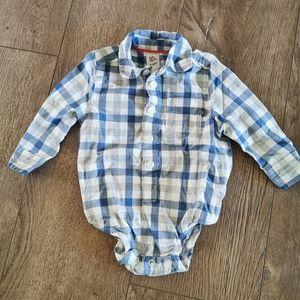 3/$15 Oshkosh B'gosh plaid shirt 3-6 m